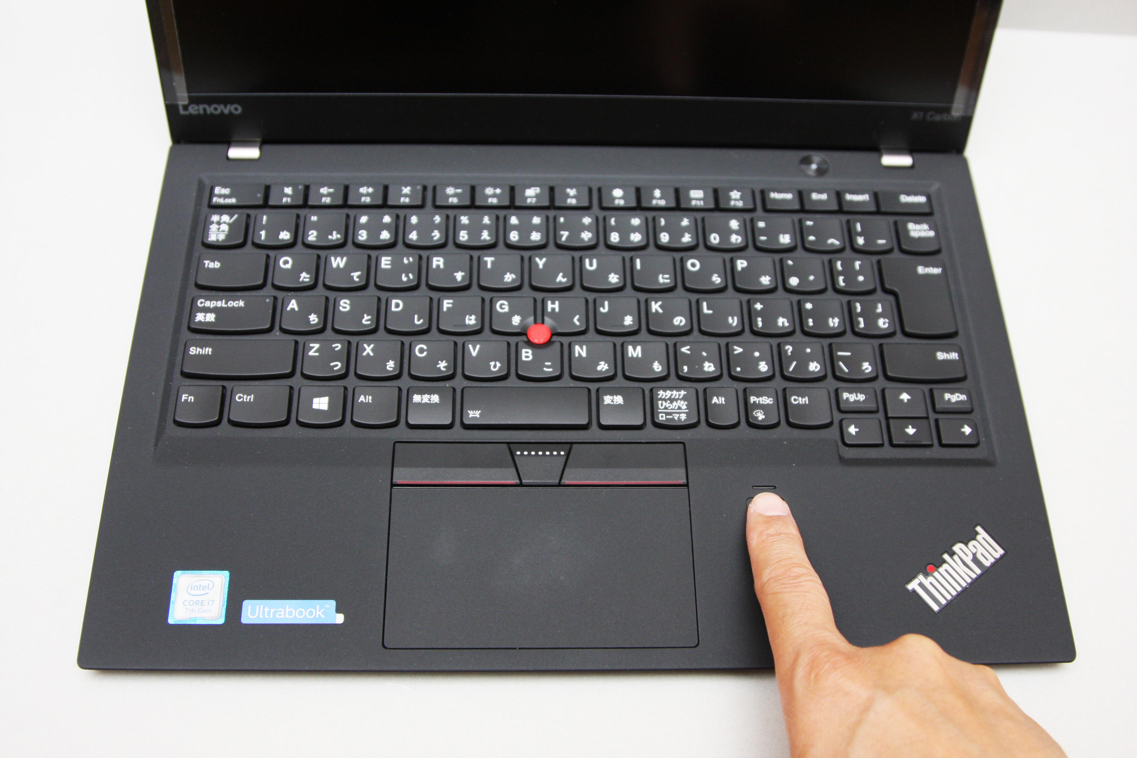 ThinkPad X1 Carbonのログインの時に指紋認証