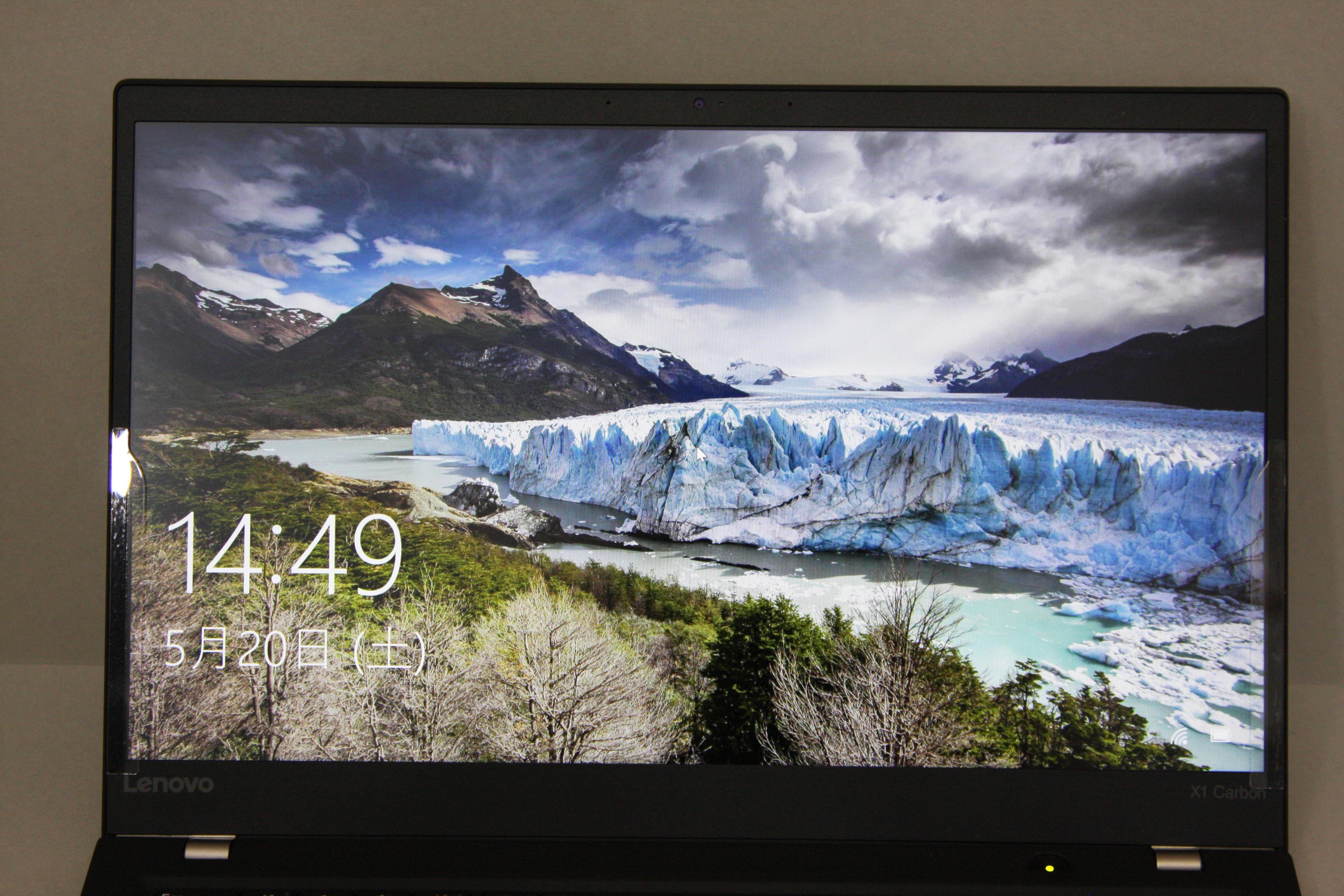 ThinkPad X1 Carbonの画面が綺麗