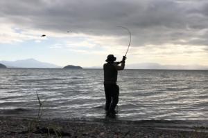 琵琶湖へバス釣り-北湖-キャスト
